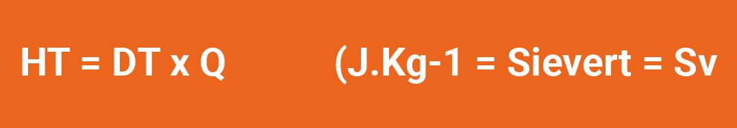 Fórmula Dose equivalente num tecido ou órgão